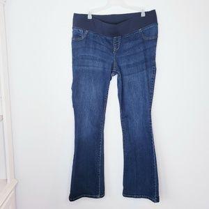 Old Navy Maternity Rockstar demi boot jeans sz 14